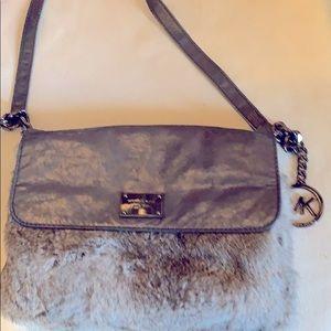 Michael Kors fur shoulder purse